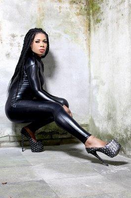 catsuit zwart full zip